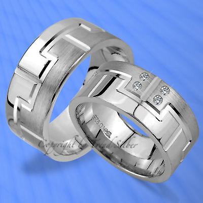 2 Trauringe Eheringe Mit Steine 9mm Silber 925 J97-4 FöRderung Der Produktion Von KöRperflüSsigkeit Und Speichel