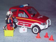 Playmobil 4822 City Action Fire Chief's Car  VGC Complete