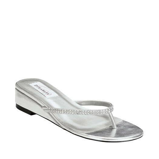 Silver Prom pageant shoes Chelsie by Touch Ups SIZE 7.5