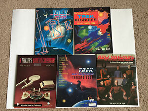 Used-lot-of-5-Star-Trek-books-DS-9-Collectibles-Guide-Crew-and-More-Good-Cond