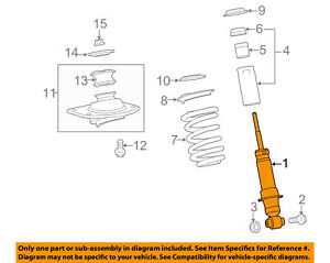 chevrolet gm oem 12 15 camaro rear strut shock 19300041 ebay Suspension Diagram image is loading chevrolet gm oem 12 15 camaro rear strut