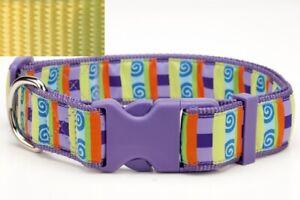 Douglas-Paquette-WEBBING-YELLOW-Nylon-Adjustable-Dog-Collar-Lead-Harness
