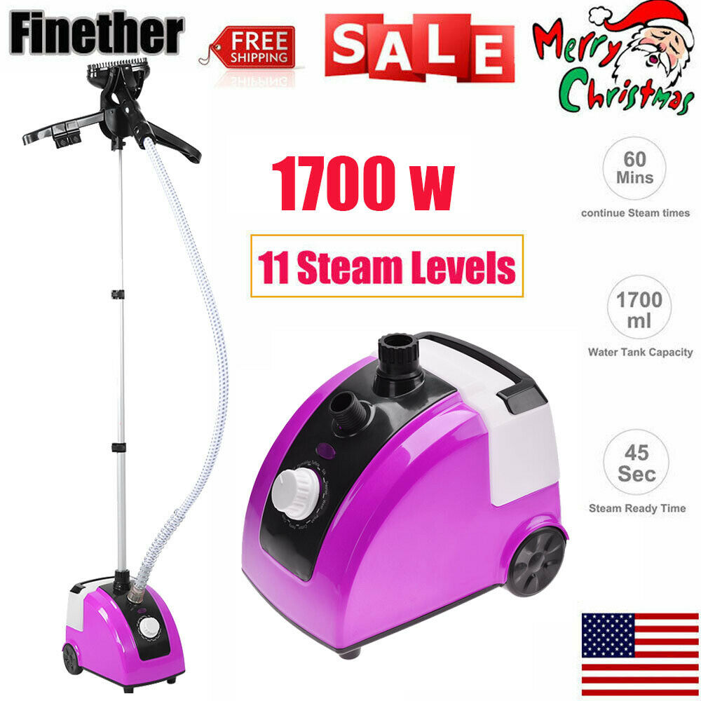 1700W 110V Garment Clothes Standing Fabric Steamer Wrinkle Remove Portable Home