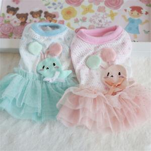Cute-Rabbit-Dress-Tiny-Dog-Clothes-Pet-Puppy-Skirt-Chihuahua-Pink-Blue-XXS-XS
