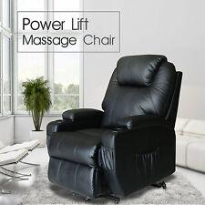 Recliner Chair Power Lift Heated Vibrating Shiatsu Massage Sofa Lounge w/Wheels