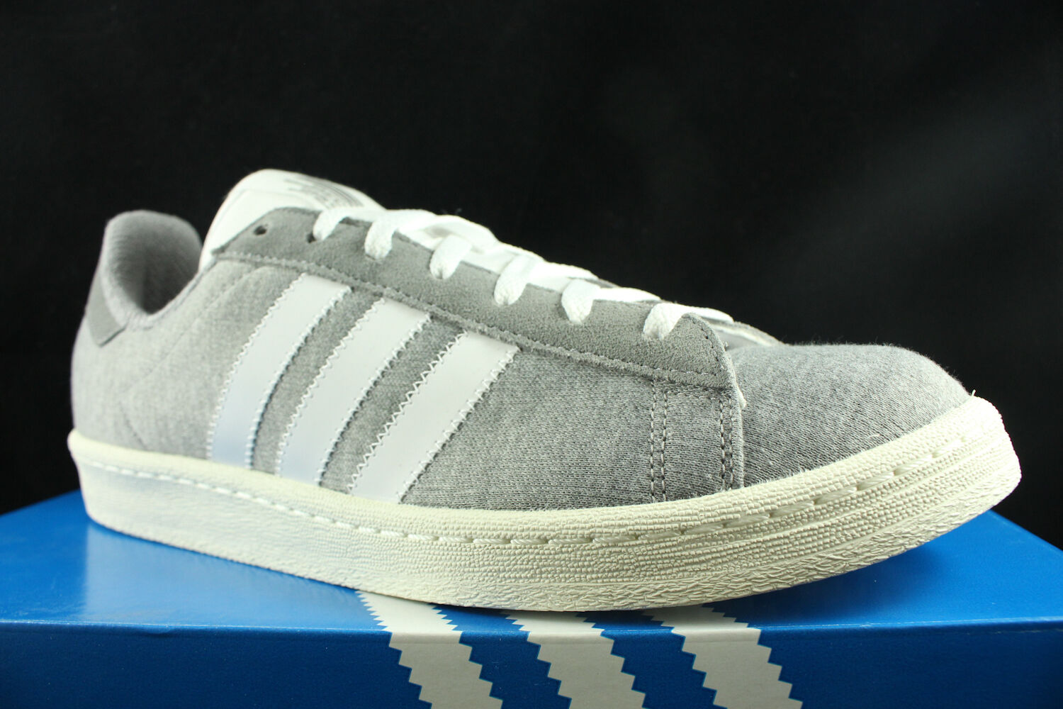 Adidas campus 80's bw bedwin bedwin bedwin and the heart breakers grey white s75675 sz 8.5 cfc147