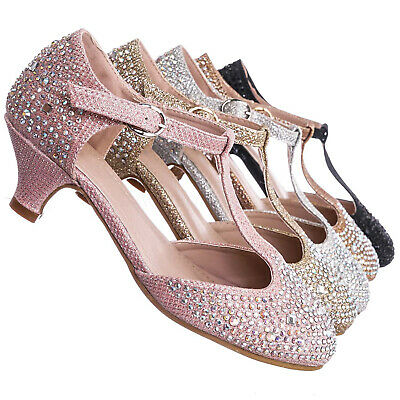Aquapillar Children Grils Rhinestone Flat Sandal Kids Embellished Jewel Shoes Silver