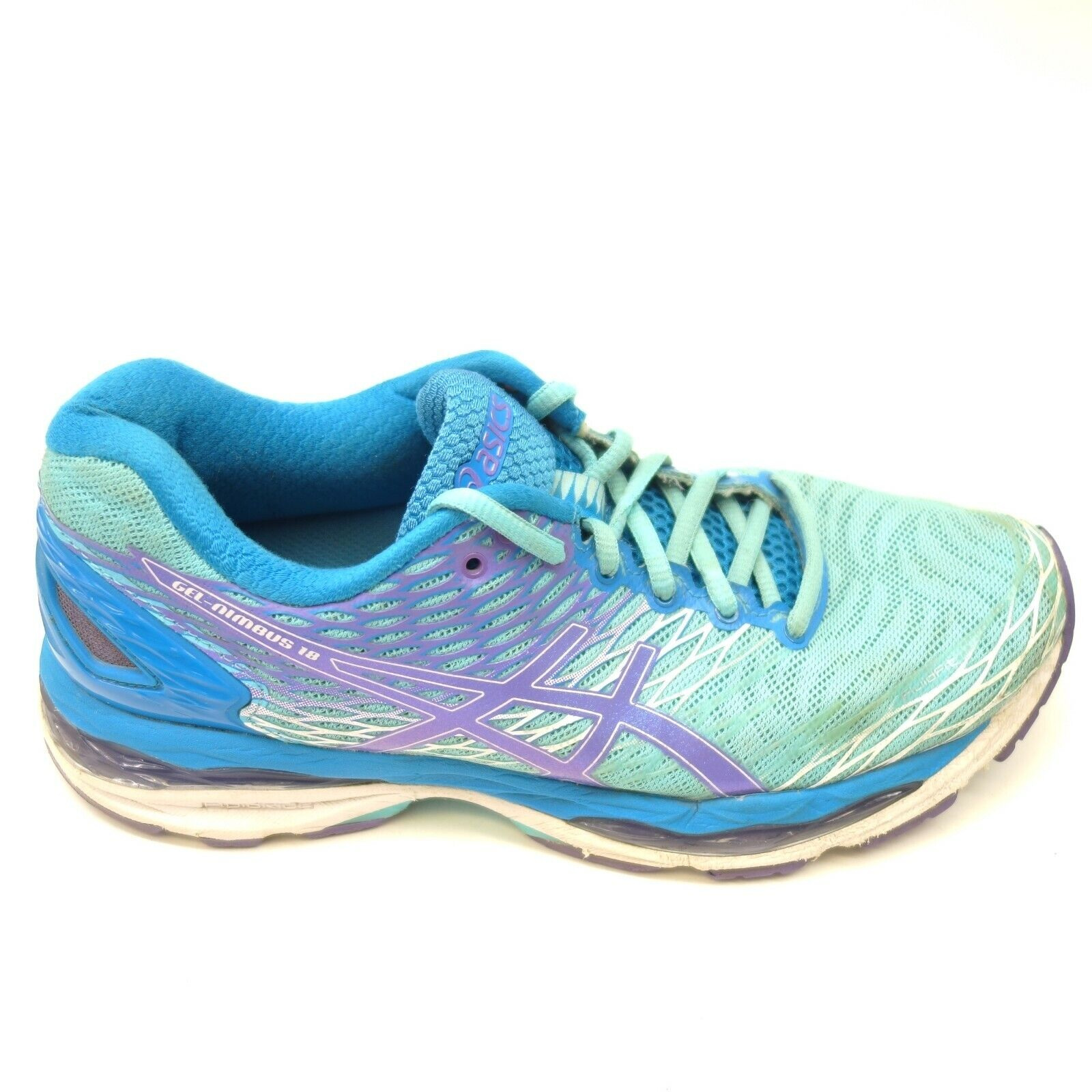 Asics Gel-Nimbus 18 Sz 8 bluee Athletic Running Training Womens shoes