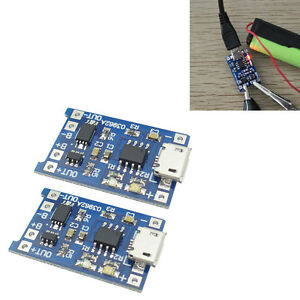 2x-5V-Micro-USB-1A-18650-Lithium-Batterie-Charging-Board-Charger-Ladegeraet-Modul