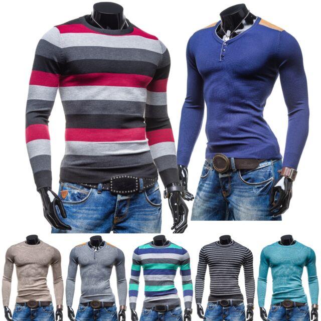 BOLF S-West Herrenpullover Pulli Men Shirt Strick Jacke Slim Fit MIX 5E5 Sweater