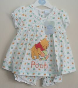 30d563aa8 Details about Baby Girl's Disney WINNIE THE POOH Dress & Bloomers Set NWT  Newborn-12 Months