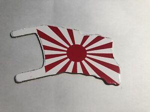 MARX-Battleground-PLAY-SET-DIE-CUT-ALUMINUM-FLAG-Reissue-Rising-Sun