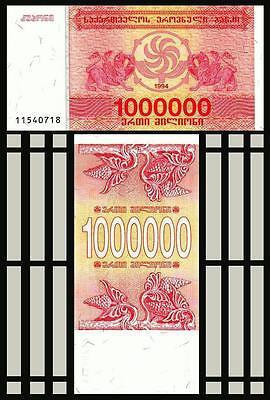 GEORGIA 1,000,000 LARIS 1 MILLION 1994 P 52 UNC LOT 5 PCS