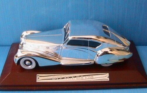 DELAGE D8 120 1939 CHROME IXO 1 43 WITH WITH WITH WOODEN BASE NEW 2e2c49