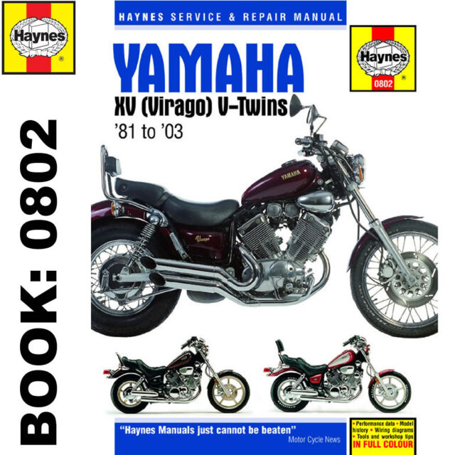 haynes yamaha xv virago v twins 1981 2003 motorcycle workshop rh ebay co uk motorcycle workshop manuals free downloads motorcycle workshop manuals nz