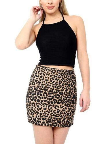Women Printed Elasticated Stretch Mini Skirt Ladies Fancy Party Wear Short Skirt