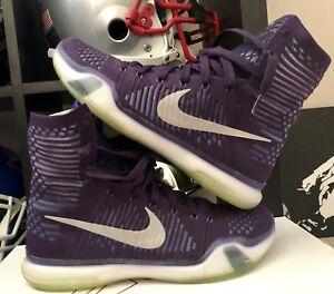 467e45d70c47 2015 Mens Nike Zoom Kobe X 10 Elite Grand Purple Silver Size 9.5 ...