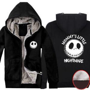 The Nightmare Before Christmas Jack Super Warm Winter Fleece Cotton Coat Hoodies