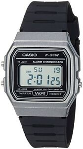 Casio Men's Classic Digital Quartz Resin Watch F-91WM-1BCF