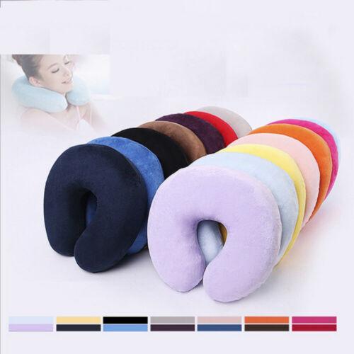 Nursing Convenient Villus U Shaped Memory Pillow Headrest Foam Cushion Neck