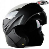 Racing Motorcycle Modular Dual Visor Flip Up Helmet Motocross Full Face M/l/xl