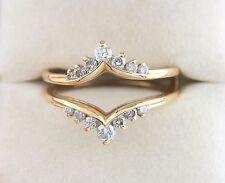 14K YG 1/2 CTW Diamond Enhancer Wedding Ring Jacket Band Guard Insert .54 Ct