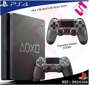 DAYS-OF-PLAY-PS4-1TB-2019-PLAYSTATION-4-EDICION-LIMITADA-SEGUNDO-MANDO-ACERO