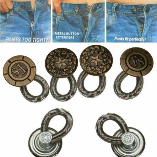 6x Waist Extender Pants Stretch Button Instant Fix Metal Elastic Expander