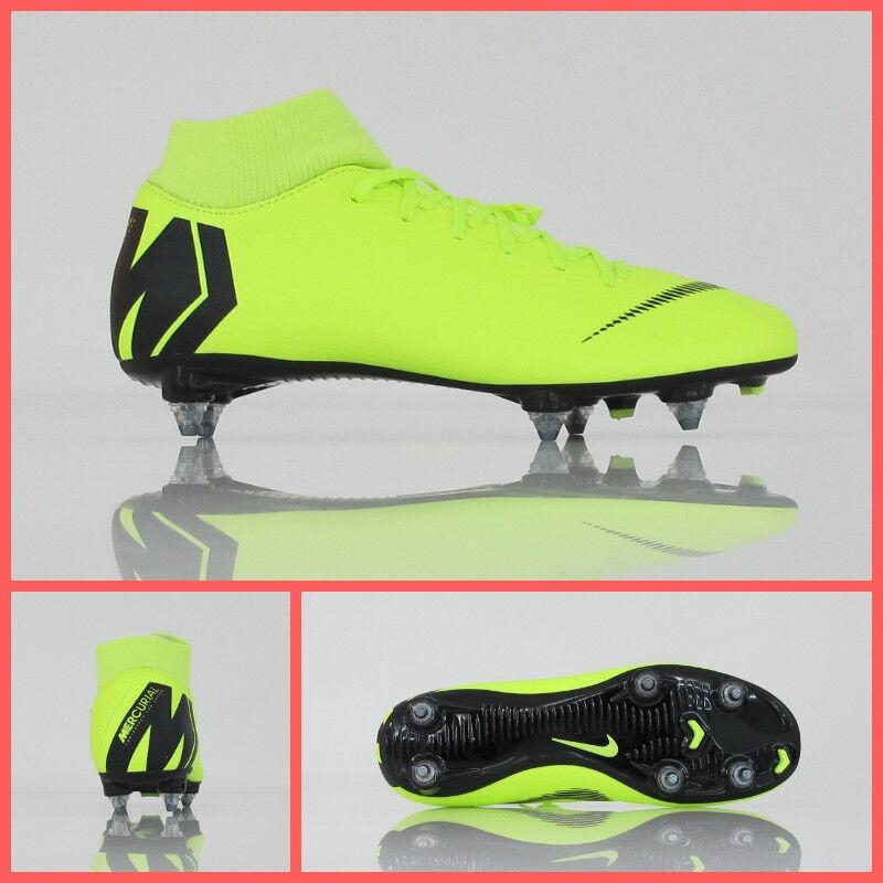 NIKE shoes calcio SUPERFLY 6 ACADEMY SG AH7364 701 yellow FLUO novembre 2018