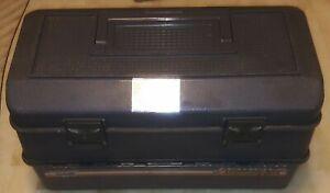 "Vintage Fenwick ""Kangaroo"" 7.8 Fishing Tackle Box Grey 10""X18""X10"" Hip Roof Box"