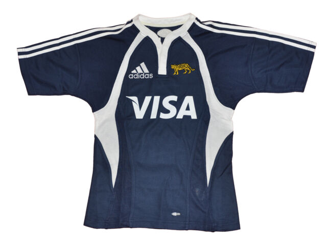 Él trabajo polla  LOS PUMAS ARGENTINA RUGBY JERSEY UAR RUGBY SHIRT ADIDAS XS CAMISETA BLUE  for sale online