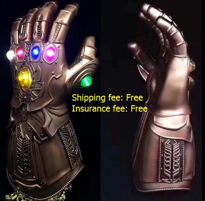 Thanos unendlichkeit spießrutenlauf led - licht handschuhe cosplay unendlichkeit krieg  the avengers .