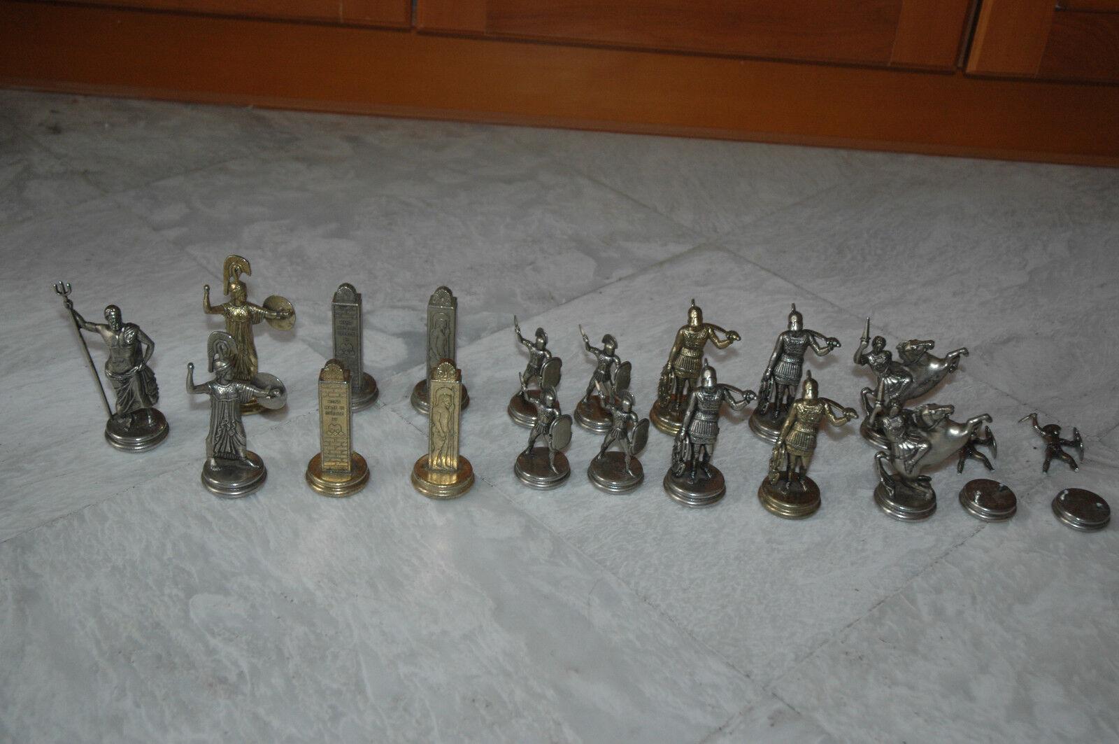 GREEK Handmade Bronze Figures lot of 19 Very Rare