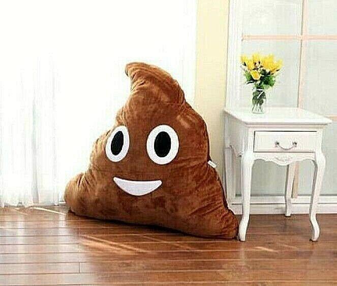 Large Giant Emoji Poo Floor Cushion 100 cm