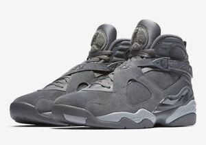 820c035d482 Nike MEN'S Air Jordan VIII 8 Retro COOL GREY SUEDE SIZE 10.5 BRAND ...