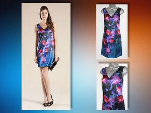 UK-12-MONSOON-Multi-Floral-Amaryllis-Print-Beaded-Neck-Cocktail-Tunic-Dress-EU40
