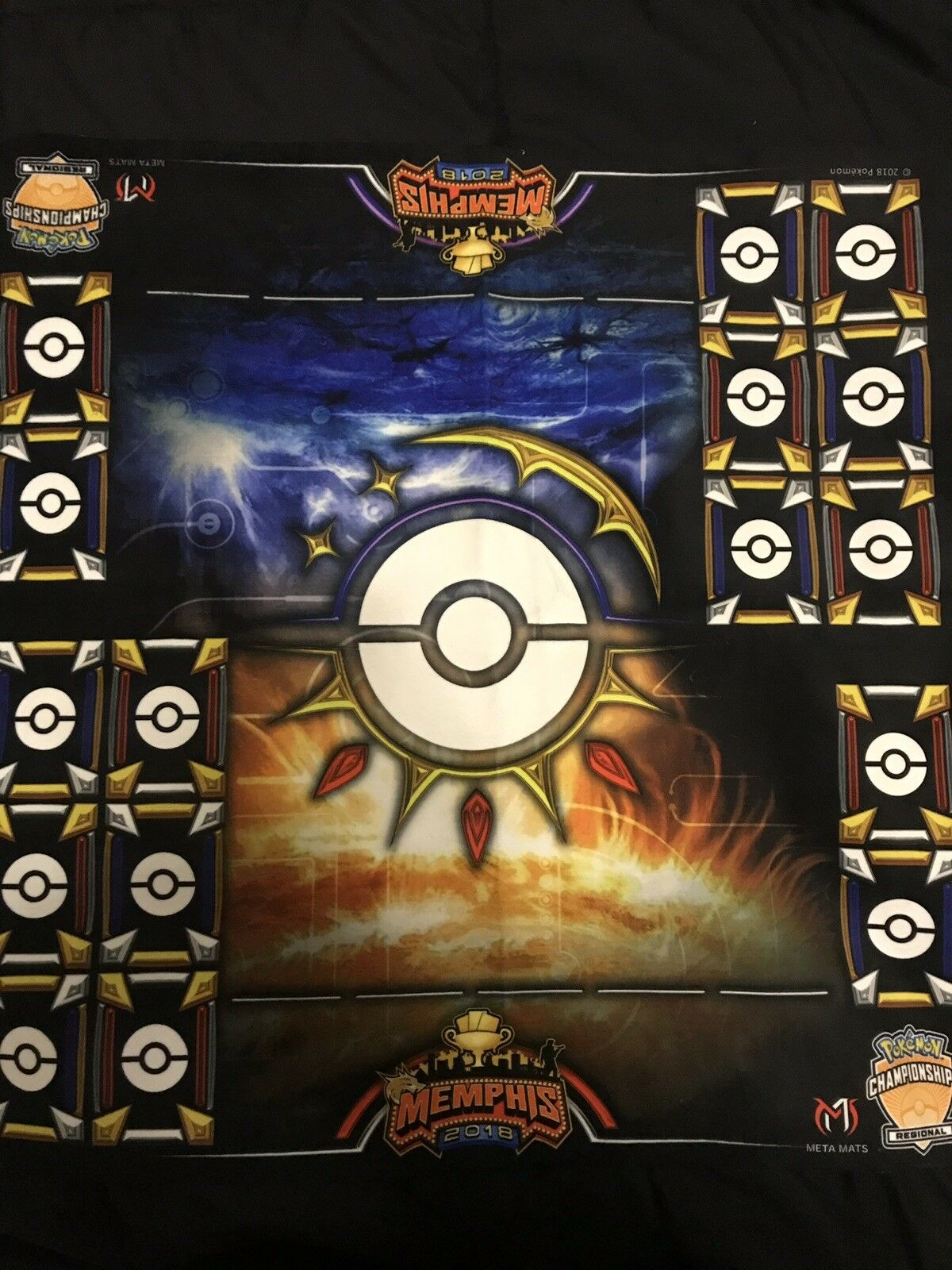 Pokemon Memphis Regionals Exclusive 2 Player MetaMat  ONLY 60 Made in the World
