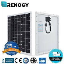 Renogy 50 Watt 12 Volt Monocrystalline Solar Panel black Compact Design