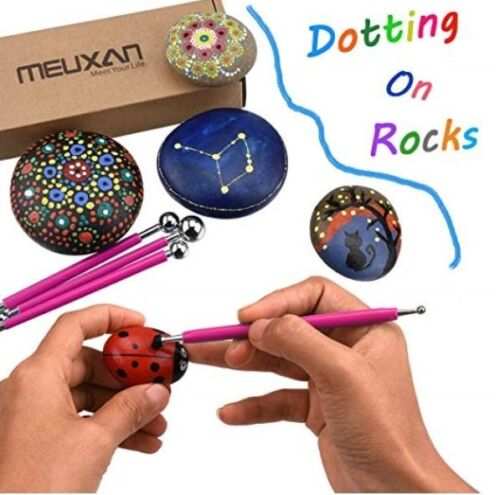 Clay Pottery Meuxan 13 Piece Ball Stylus Dotting Tools for Rock Painting