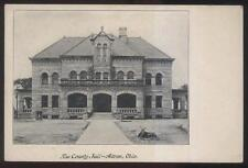 POSTCARD AKRON OH/OHIO COUNTY JAIL BUILDING 1906