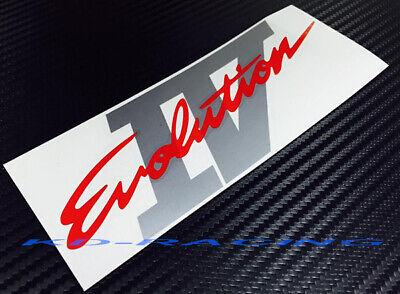 Evolution Evo 4 IV Door /& Rear Sticker Decals Set CN9A Ralliart GSR FREE SHIP