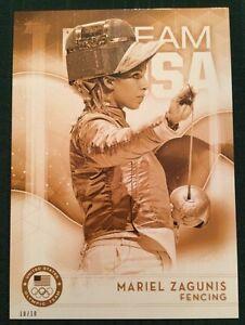 2016 Topps Olympics Gold 5X7 Jumbo Card Mariel Zagunis Team USA #/10 Rare