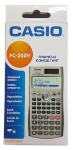 Casio financial calculator fc-200v (end 12/31/2018 5:51 pm).
