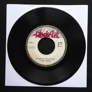 PRINCE-JAZZBO-Straight-To-I-Roy-s-Head-BLACK-ART-Jamaica-7-45-VINYL-ROOTS-1975