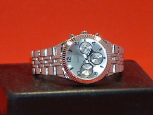Pre-Owned-Men-s-Silver-Tone-Sport-Analog-Watch