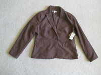 Women's Coldwater Creek Blazer Jacket Brown Faux Suede Medium M 10-12