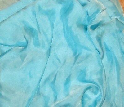 "Silk CHIFFON Fabric IRIDESCENT AQUA ICE 54"""