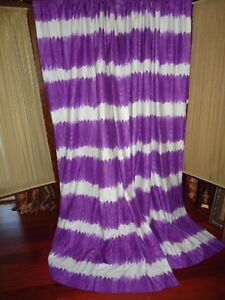 target xhilaration purple white pair tie dye panels curtains 48 x 84 ebay. Black Bedroom Furniture Sets. Home Design Ideas