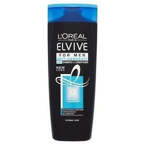 2-x-L-039-Oreal-Elvive-For-Men-Anti-Dandruff-2-In-1-Shampoo-amp-Conditioner-400ml-Each