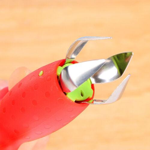 Strawberry Berry Stem Leaves Huller Gem Fruit Removal Remover Corer Kitchen Tool